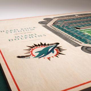 Miami Dolphins 3D Stadium Wall Art