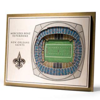 New Orleans Saints 3D Stadium Wall Art