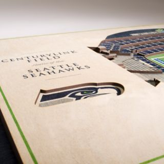 Seattle Seahawks 3D Stadium Wall Art
