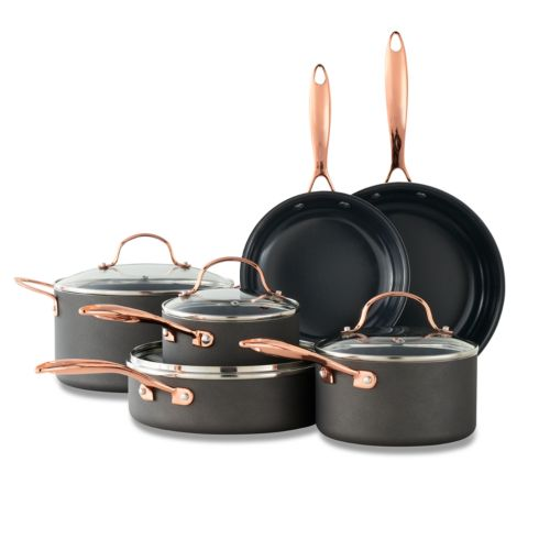 Food Network™ 10 Pc. Nonstick Black Matte Ceramic Cookware Set by Kohl's