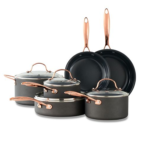 Food Network™ 10-pc. Nonstick Black Matte Ceramic Cookware Set