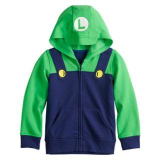 Boys 4-12 Jumping Beans® Super Mario Bros. Luigi Zip Hoodie