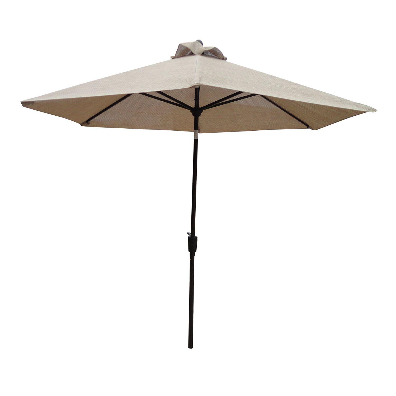 Vented Push, Tilt U0026 Crank Patio Umbrella