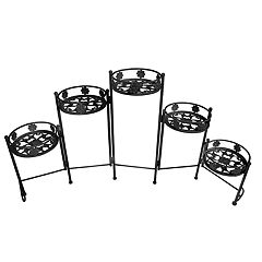 Indoor / Outdoor Foldable 5-Tier Plant Stand