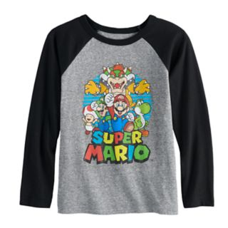 Boys 4-12 Jumping Beans® Super Mario Bros. Raglan Graphic Tee