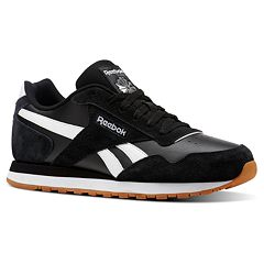 Reebok CL Harman Run Men s Leather Sneakers. Black White Gum Army Green ... cf942d04a