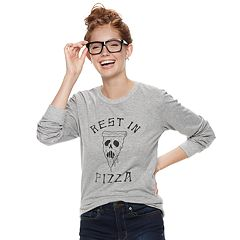 Juniors' 'Rest in Pizza' Tee
