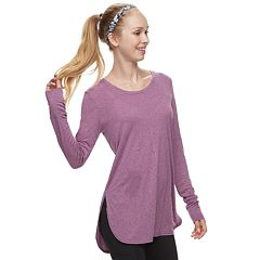 Women's Tek Gear® High Slit Long Sleeve Tunic Tee