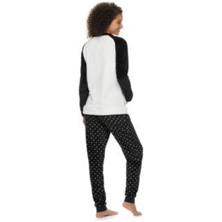 Juniors' Peace, Love & Fashion Sweatshirt & Joggers Pajama Set