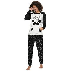 Juniors' Peace, Love & Fashion Sweatshirt & Joggers Pajama Set
