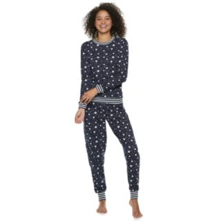 Juniors' Peace, Love & Fashion Celestial 2-Piece Pajama Set