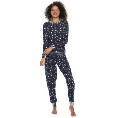 Juniors' Peace, Love & Fashion Celestial 2-Piece Pajama Set