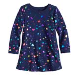 Toddler Girl Jumping Beans® Glittery French Terry Swing Dress