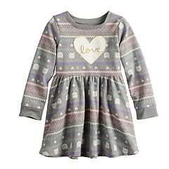 Toddler Girl Jumping Beans® Fleece Skater Dress