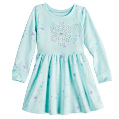Toddler Girl Jumping Beans® Fleece Skater Dress