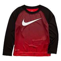 Toddler Boy Nike Logo Ombre Dri-FIT Raglan Tee