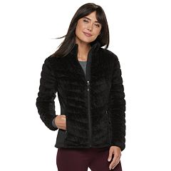 Women's Be Boundless Chevron-Quilted Faux-Fur Plush Jacket