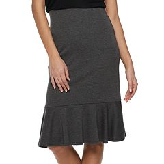 Women's Apt. 9 Tummy Control Ruffle Hem Skirt