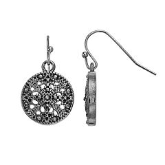 Round Filigree Drop Earrings