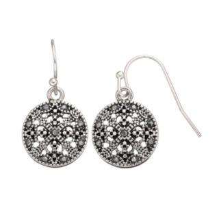 Round Filigree Drop Earrings