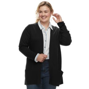 Plus Size SONOMA Goods for Life? Ribbed Cardigan