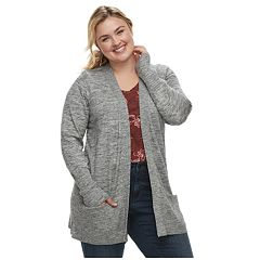 Plus Size SONOMA Goods for Life™ Ribbed Cardigan