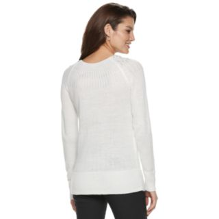 Women's Apt. 9® Embellished Yoke Crewneck Sweater