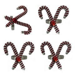 St. Nicholas Square® Candy Cane Napkin Rings