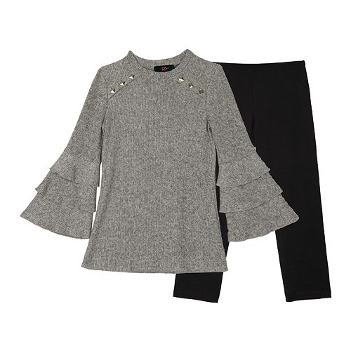 da8a5d1338cf7 Girls 7-16   Plus Size IZ Amy Byer Bell Sleeve Tunic   Leggings Set