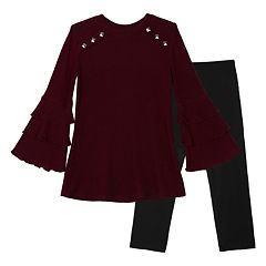 Girls 7-16 & Plus Size IZ Amy Byer Bell Sleeve Tunic & Leggings Set
