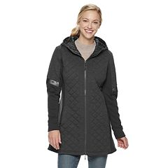 Women's Be Boundless Hooded Quilted Mixed-Media Jacket
