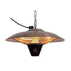 Fire Sense Gunnison Copper Finish Hanging Halogen Patio Heater