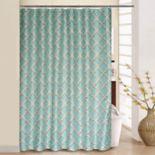 Waverly Lustrous Lattice Shower Curtain & Rings