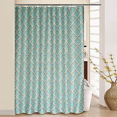 Waverly Lustrous Lattice Shower Curtain & Rings
