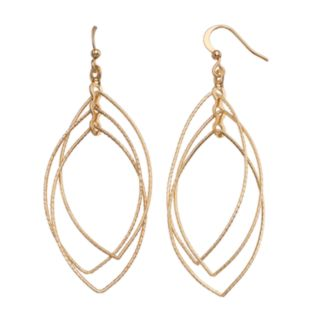 Nickel Free Triple Marquise Drop Earrings