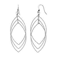 Nickel Free Triple Marquise Drop Earrings