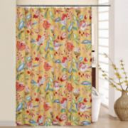 Waverly Modern Poetic Shower Curtain & Rings