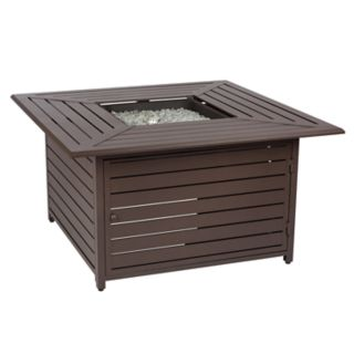 Fire Sense Danang Square Outdoor Gas Fire Pit Coffee Table
