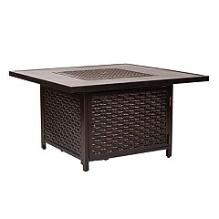 Fire Sense Baker Outdoor Gas Fire Pit Coffee Table