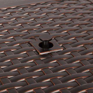 Fire Sense Baker Outdoor Gas Fire Pit Coffee Table