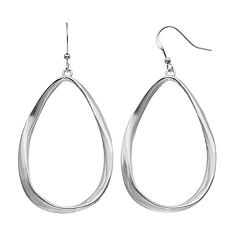 Twisted Open Teardrop Earrings