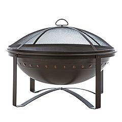 Fire Sense Highland Bronze Finish Outdoor Fire Pit