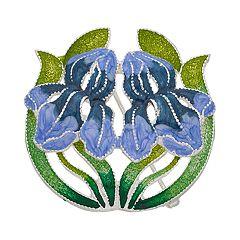 Napier Iris Flower Pin