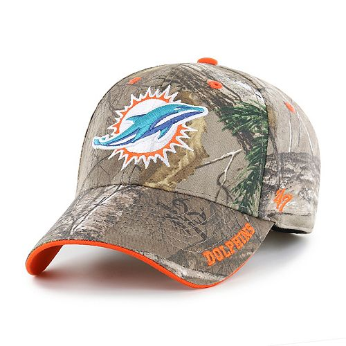 Adult '47 Brand Miami Dolphins Frost Realtree Adjustable Cap