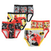 "Boys 4-8 Disney / Pixar ""The Incredibles"" 5-Pack Briefs"