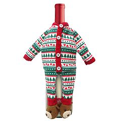 St. Nicholas Square® Christmas Jammies Wine Cover