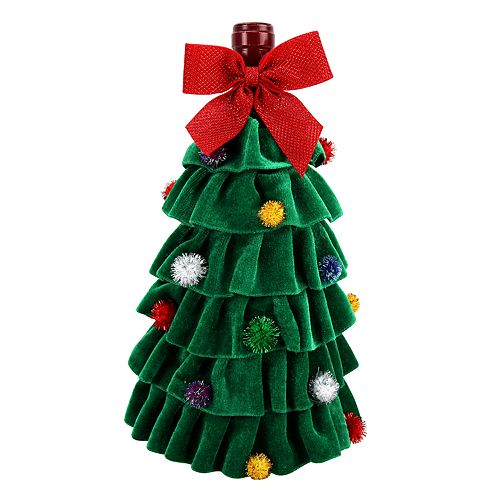 st nicholas square christmas tree wine cover