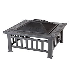 Fire Sense Stonemon Square Outdoor Fire Pit