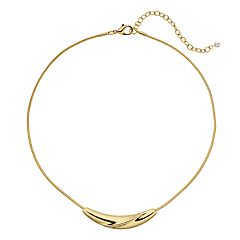 Napier Gold Tone Curved Bar Necklace