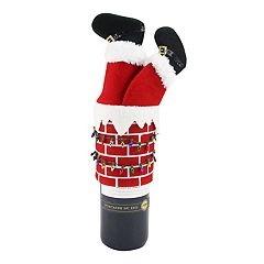 St. Nicholas Square® Santa Chimney Wine Topper